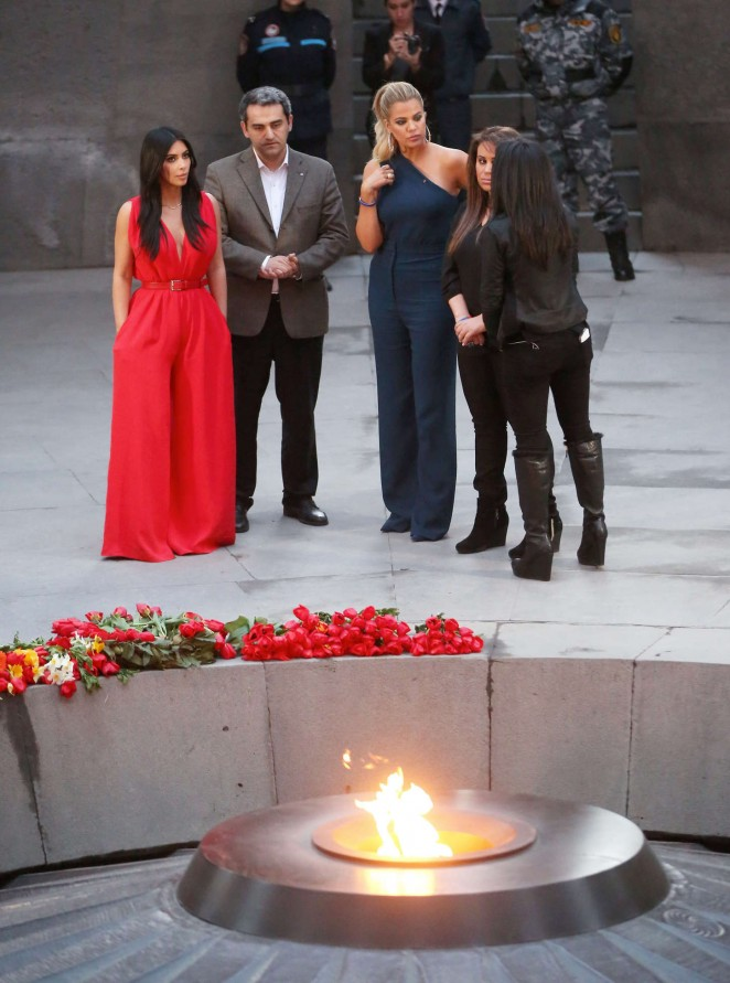 Kim Kardashian: Visiting the Armenian Genocide Memorial -31