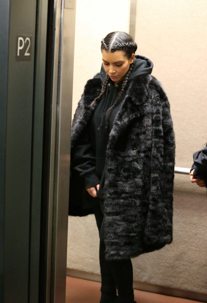 Kim Kardashian visits a doctor's office in Los Angeles