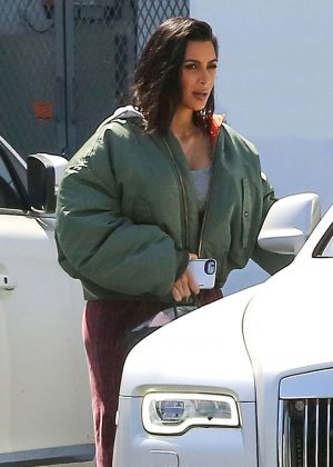 Kim Kardashian visits the studio in Westlake