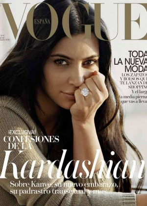 Kim Kardashian - Vogue Spain Cover Magazine (August 2015)