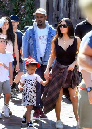 Kim Kardashian with family at Disnayland in Anaheim