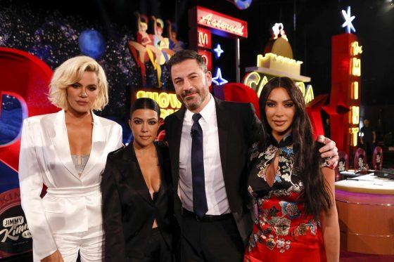 Kim, Kourtney and Khloe Kardashian - On Jimmy Kimmel Live in Las Vegas