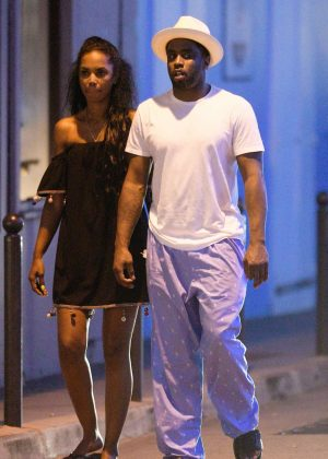 Kim Porter With P Diddy In St Barth Gotceleb