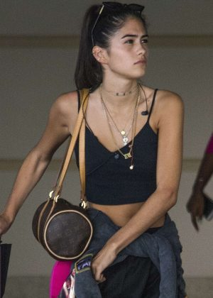 Kim Turnbull - Arrives at Barbados Airport