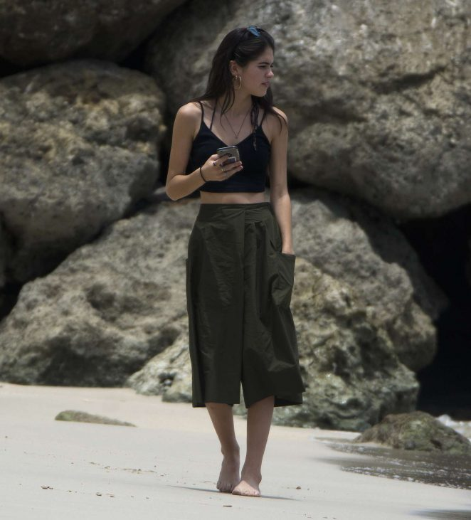 Kim Turnbull out and about in Barbados -02