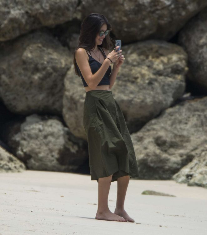 Kim Turnbull out and about in Barbados -22