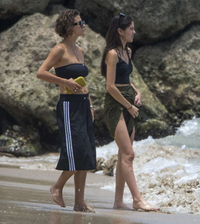 Kim Turnbull out and about in Barbados -48