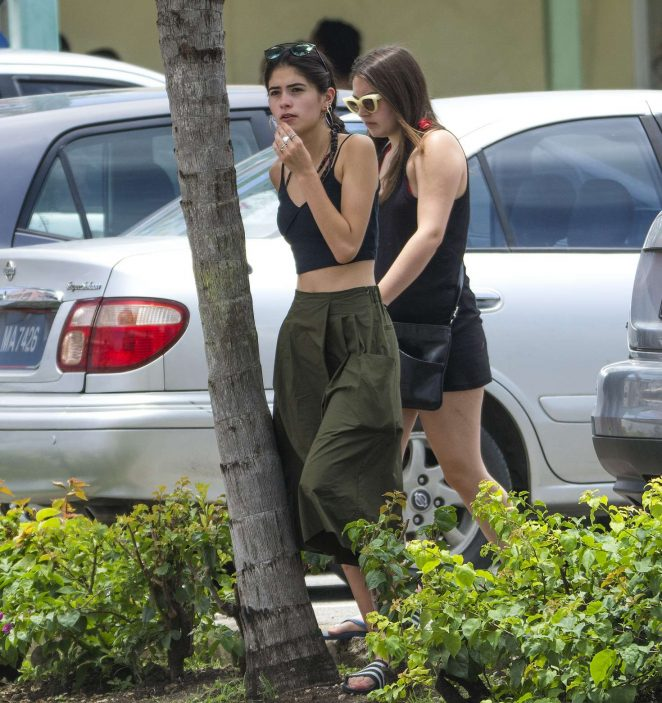 Kim Turnbull out and about in Barbados -62