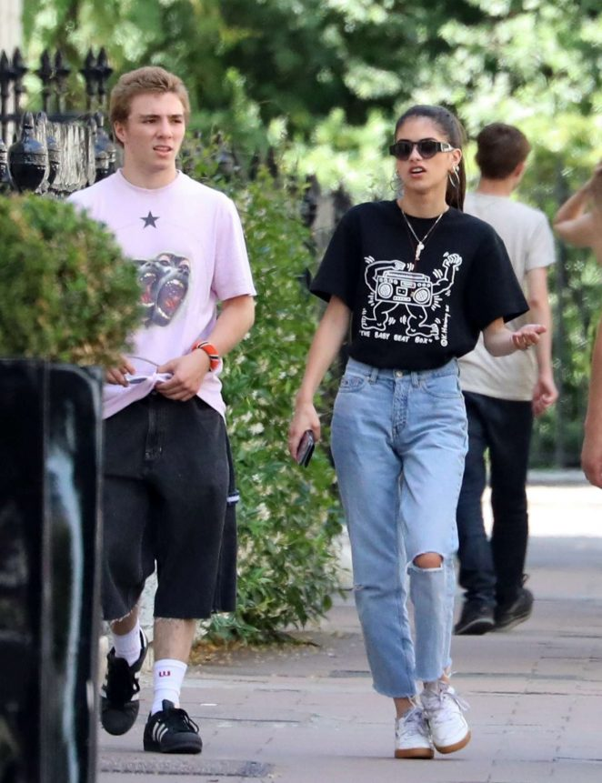 Kim Turnbull with Rocco Ritchie out in London