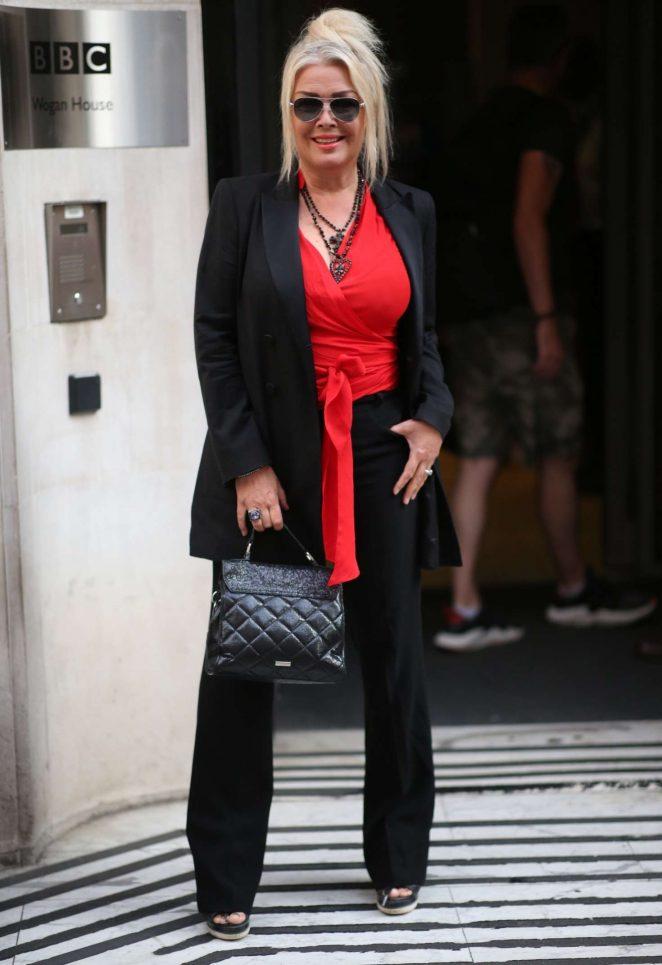 Kim Wilde - Arrives at the Chris Evans Breakfast Show in London