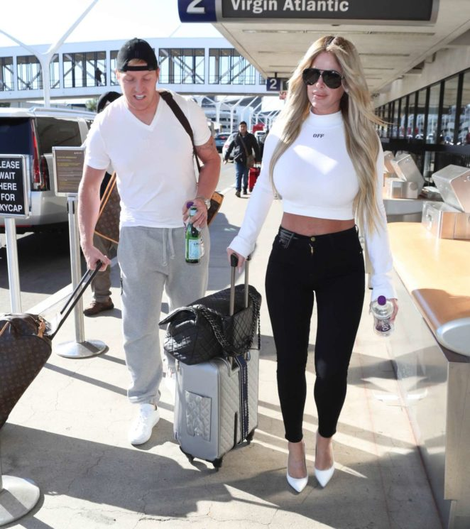 Kim Zolciak and Kroy Biermann at LAX Airport in Los Angeles