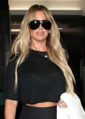Kim Zolciak at LAX Airport in Los Angeles
