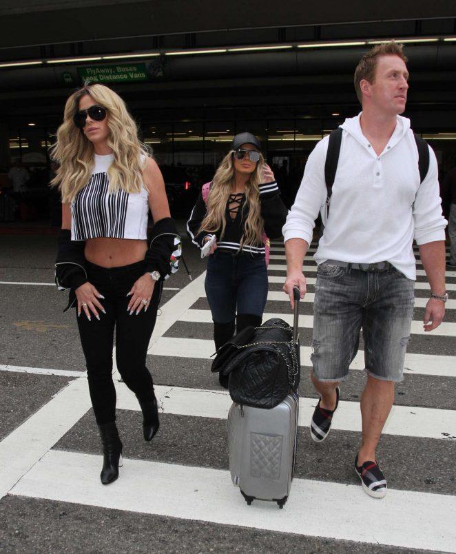 Kim Zolciak at LAX airport -01