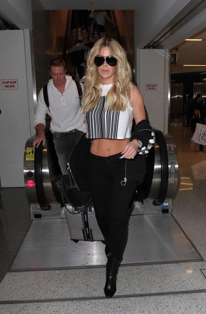 Kim Zolciak at LAX airport in Los Angeles