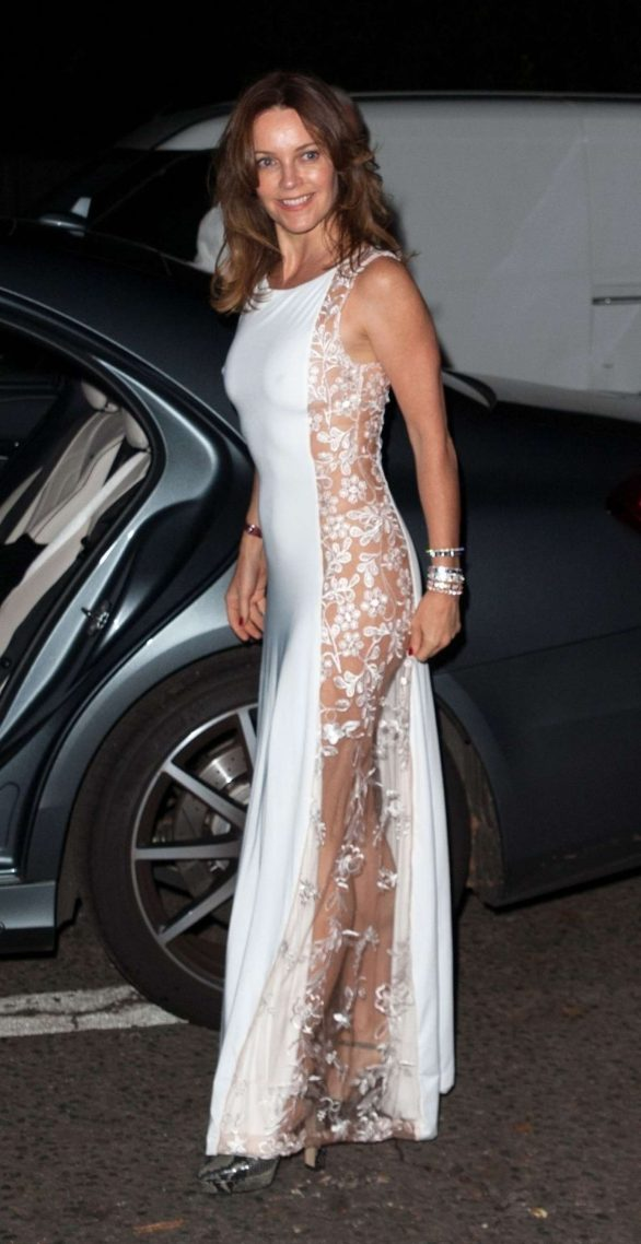 Kimberleigh Gelber - Arriving for Jackie St Clair's 60th Birthday in London