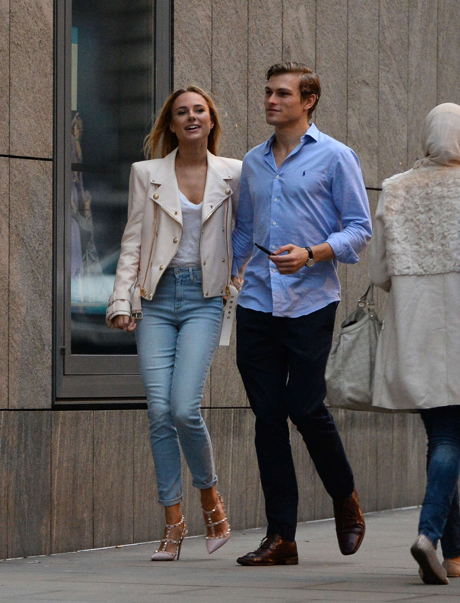 Kimberley Garner and boyfriend out in Covent Garden