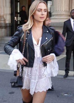 Kimberley Garner - Arrives at the Giorgio Armani Show in Milan