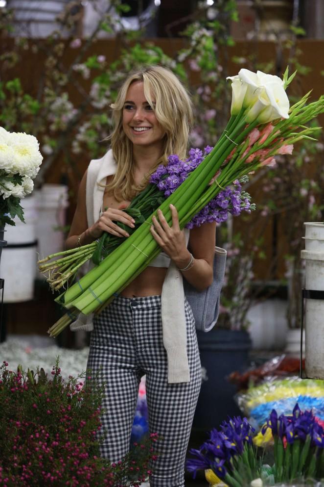 Kimberley Garner at Flower Market in Los Angeles