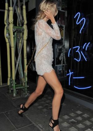 Kimberley Garner in Mini Dress at Kings Road Restaurant in London