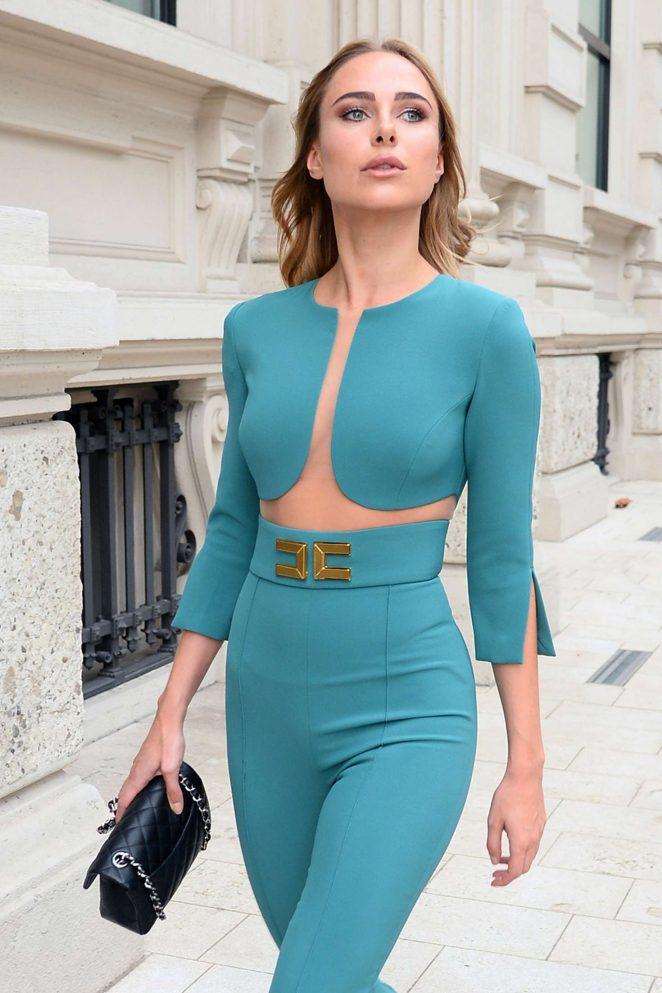 Kimberley Garner at Milan Fashion Week in Milan
