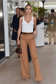 Kimberley Garner at the Martinez hotel in Cannes