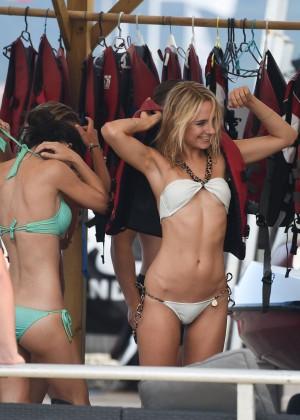 Kimberley Garner in White Bikini -30