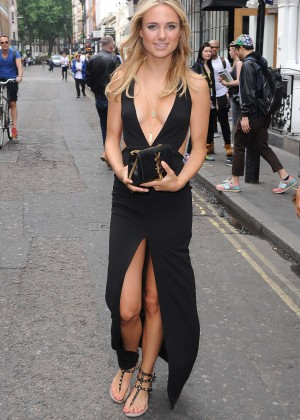 Kimberley Garner in Black Dress at Fashion Show in London
