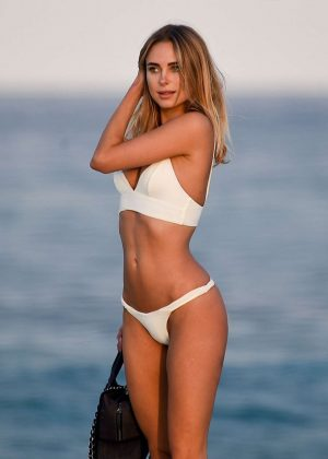 Kimberley Garner - Hot in White Bikini in St Tropez