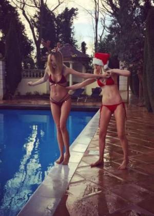 Kimberley Garner in Red Bikini -03
