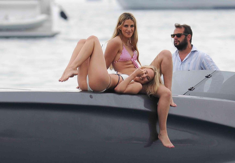 Kimberley garner in bikini on a boat trip in st tropez