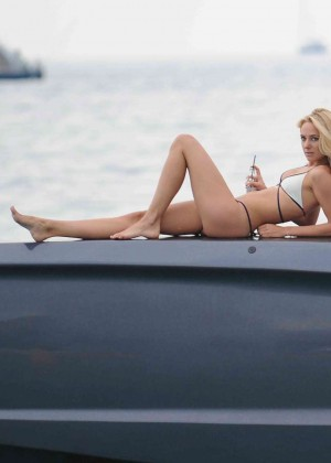 Kimberley Garner in White Bikini -06