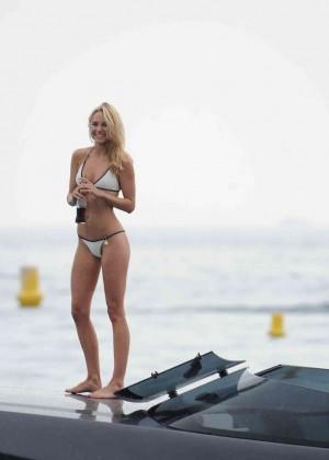 Kimberley Garner in White Bikini -13