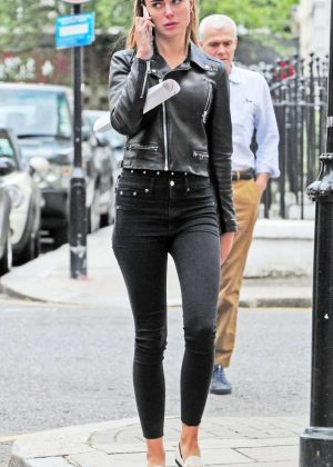 Kimberley Garner in Black Jeans - Out in London