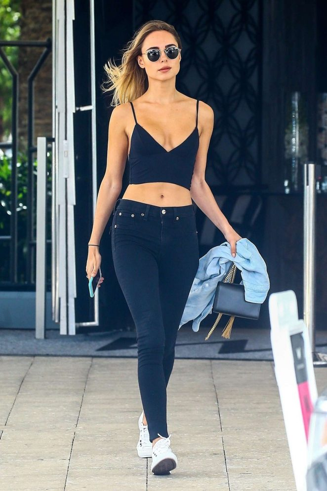 Kimberley Garner in Black Jeans out in Miami