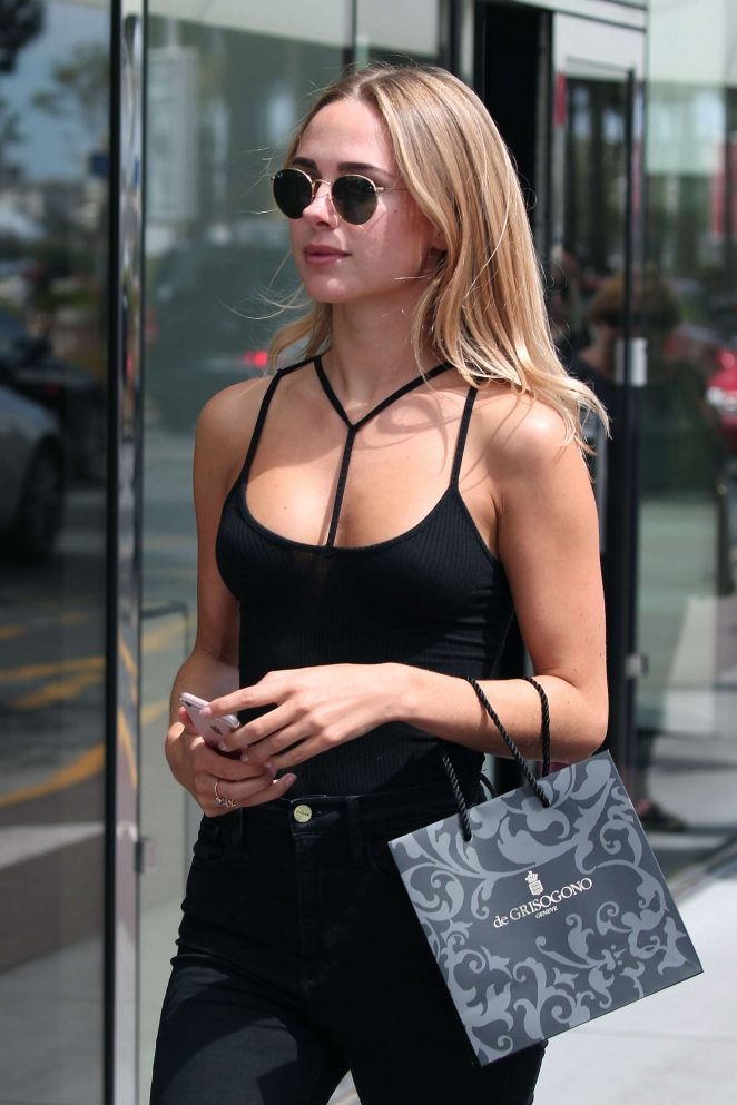 Kimberley Garner in Black outfit out in Cannes
