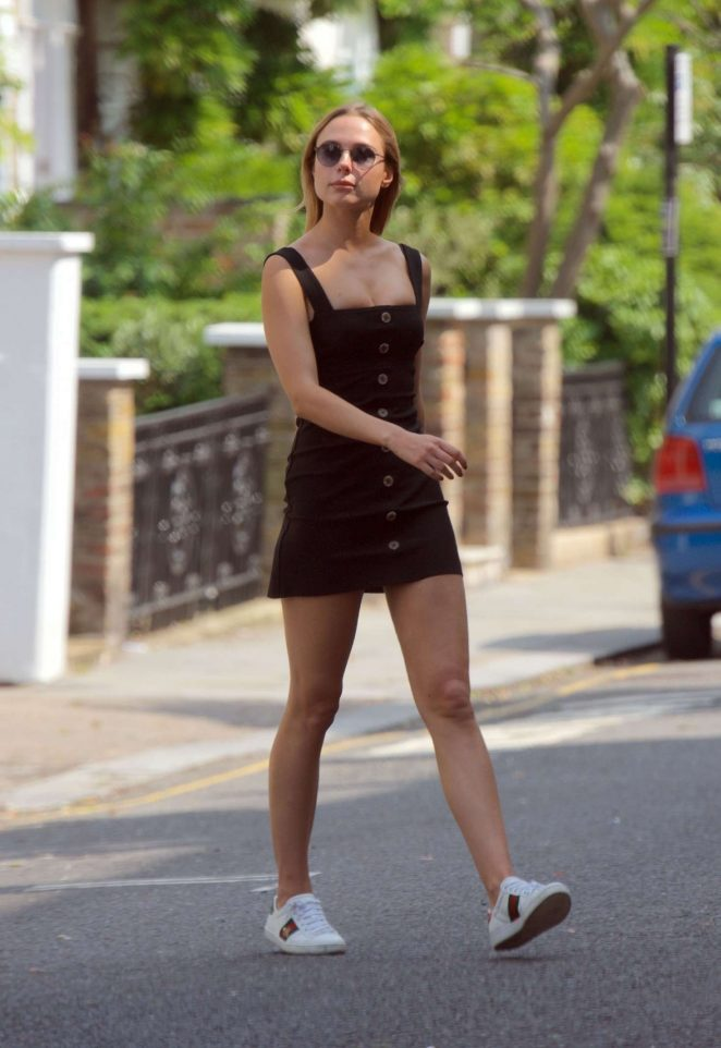 Kimberley Garner in Mini Dress out in London