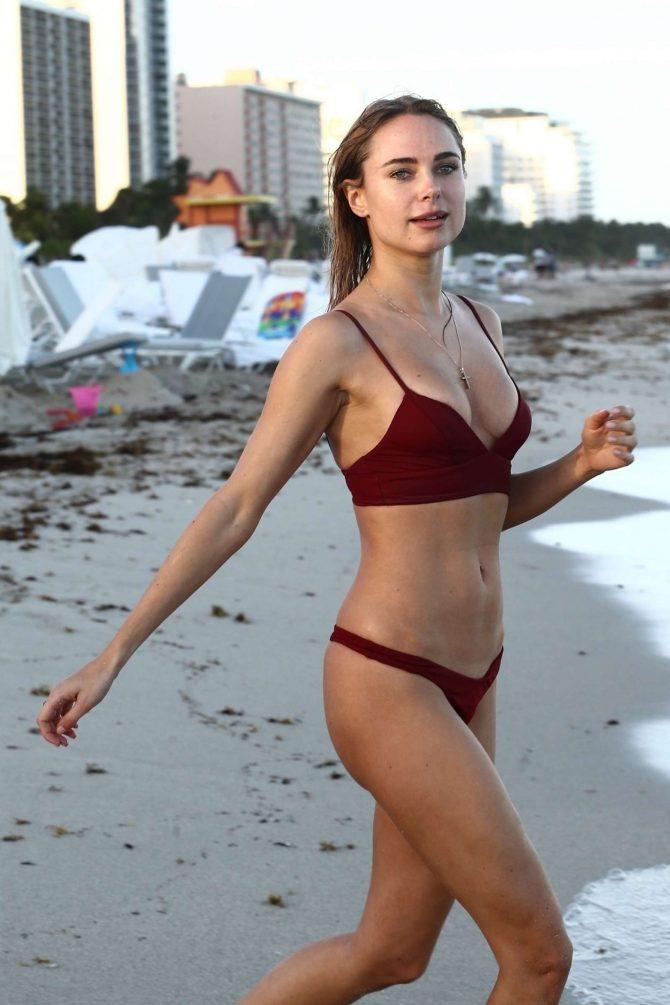 Beach In On The MiamiGotceleb Kimberley Garner Red Bikini WDYEH29I