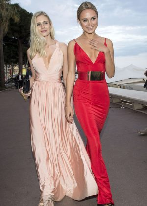 Kimberley Garner in Red Dress out in Cannes