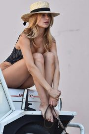 Kimberley Garner in Swimsuit on the streets of St. Tropez