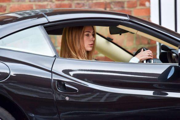 Kimberley Garner 2019 : Kimberley Garner – Is seen in her Ferrari at the Gym in London-13