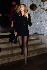 Kimberley Garner - Leaving Annabels Private Members Club in London