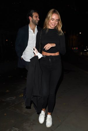 Kimberley Garner - Night out - Seen leaving the Connaught hotel - Mayfair
