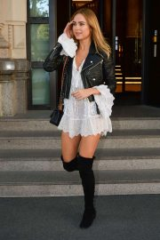 Kimberley Garner - Out at Milan Fashion Week