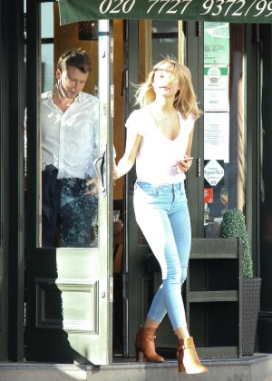 Kimberley Garner out for lunch in London