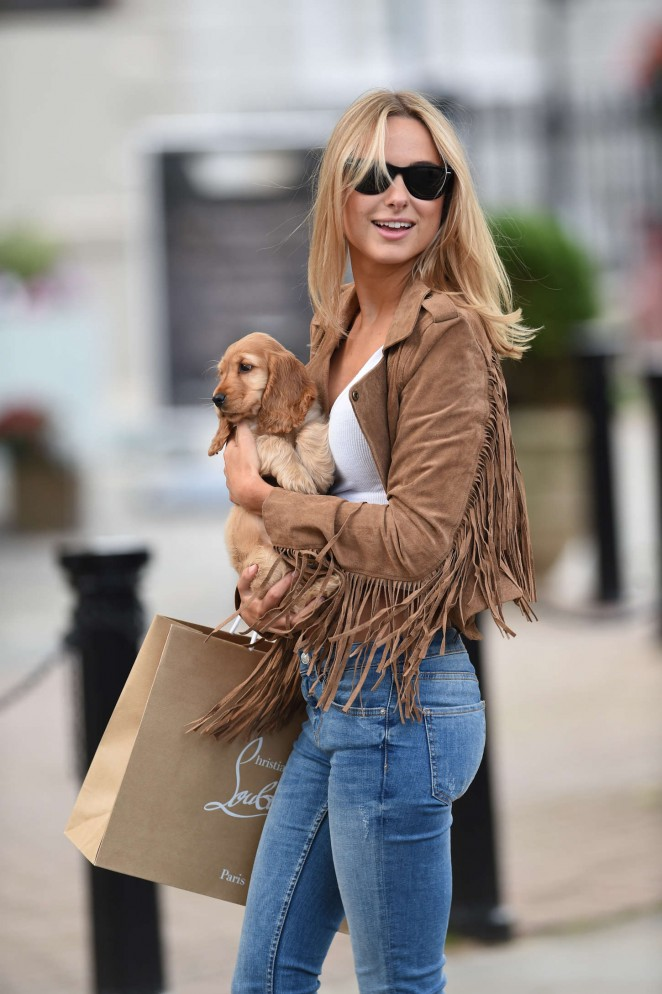 Kimberley Garner in Tight Jeans Out in London