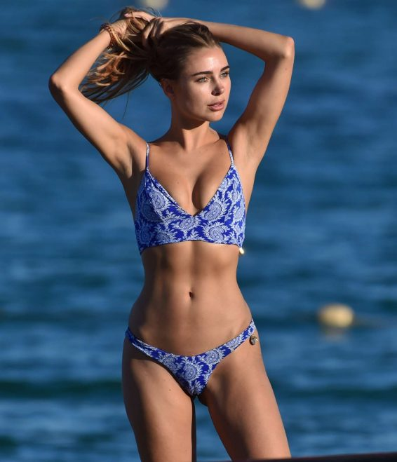 Kimberley Garner - Spotted while jet-skiing in St Tropez