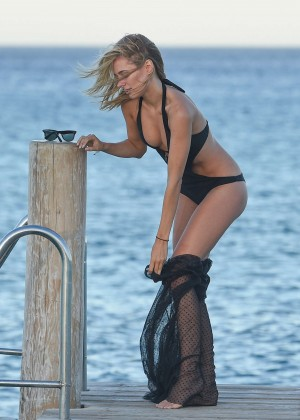 Kimberley Garner in Black Bikini -02