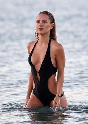 Kimberley Garner in Black Bikini -04
