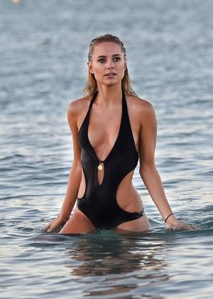 Kimberley Garner in Black Bikini -07