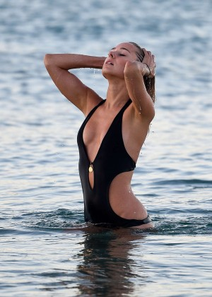 Kimberley Garner in Black Bikini -10